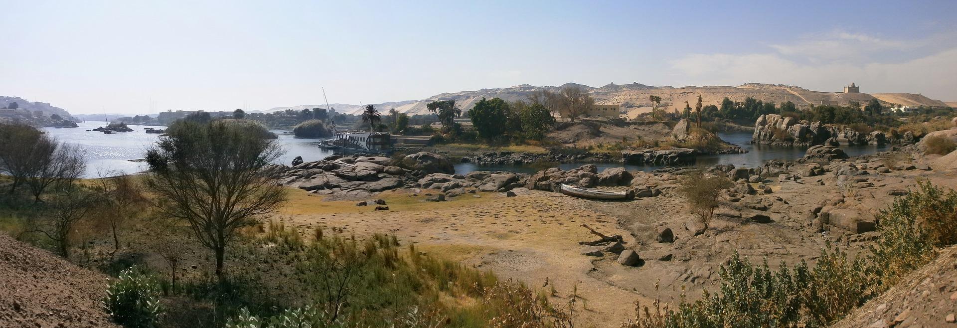 Aswan Egypte rivier de Nijl