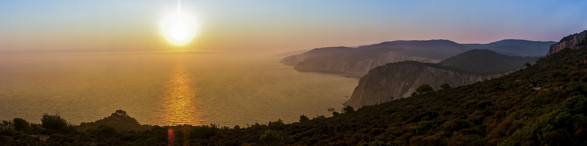 Vakantie Griekenland Zakynthos zonsondergang